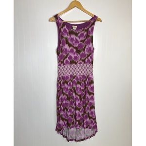 Matilda Jane Purple Brown Sleeveless Dress Large
